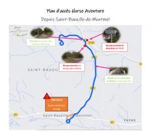 Plan d'accès Horse Aventure